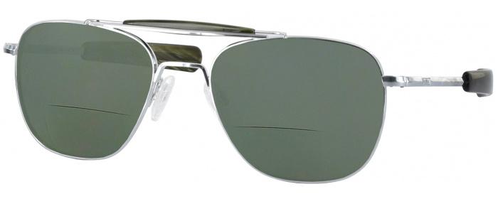 f160744e662 Bright Chrome Green Randolph Aviator II Bifocal Reading Sunglasses ...
