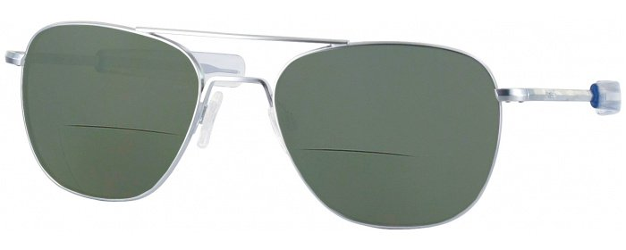 9f08315936 Matte Chrome Randolph Aviator Bifocal Reading Sunglasses ...
