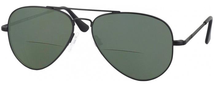 0bdc72f8da6 Matte Black Randolph Concorde Bifocal Reading Sunglasses ...