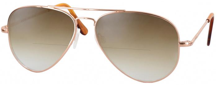 d229dc9250 Randolph Concorde Bifocal Reading Sunglasses With Gradient (Rose Gold)