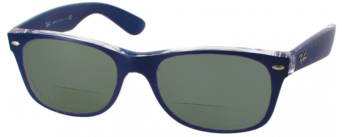 982ac0e608b Matte Blue Ray-Ban 2132L Polarized Bifocal Reading Sunglasses ...