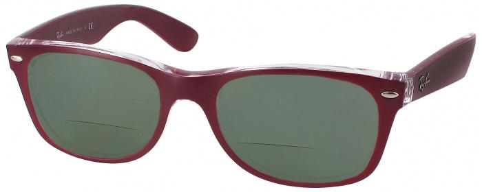 305b85cf5f Matte Bordeaux Ray-Ban 2132 Polarized Bifocal Reading Sunglasses ...