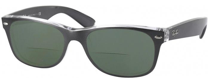 2db007cc29a Brushed Gunmetal Ray-Ban 2132 Polarized Bifocal Reading Sunglasses ...
