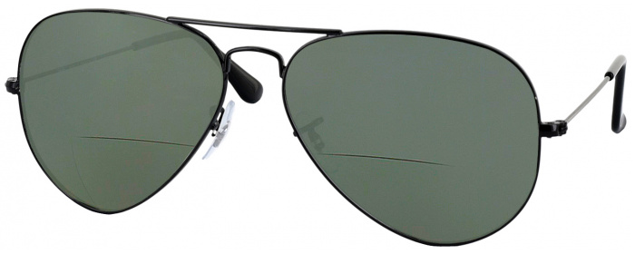 9fb9c24ce33f6 Black Ray-Ban 3025L Bifocal Reading Sunglasses - ReadingGlasses.com