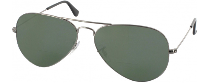 2eb52fbf177d Gunmetal Crystal Ray-Ban 3025L Polarized Bifocal Reading Sunglasses ...