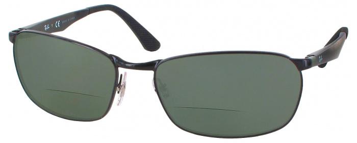 a2092e3c10616 Black Ray-Ban 3534 Bifocal Reading Sunglasses - ReadingGlasses.com