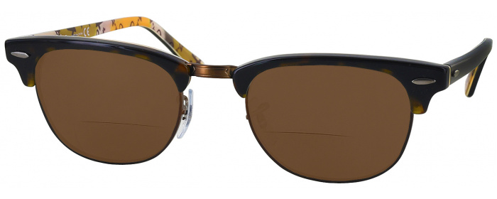 0dc5e7d32ad Havana On Text Camouflage Ray-Ban 5154 Bifocal Reading Sunglasses ...