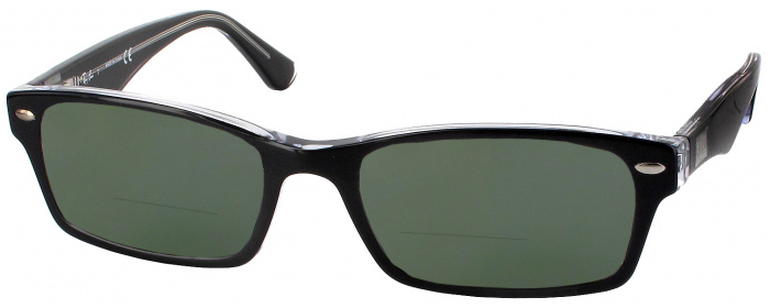 5f6eb35eb6b0 Black Ray-Ban 5206 Bifocal Reading Sunglasses - ReadingGlasses.com