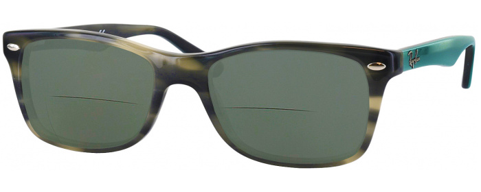 236652c2a882 Grey Green Havana Ray-Ban 5228 Polarized Bifocal Reading Sunglasses ...