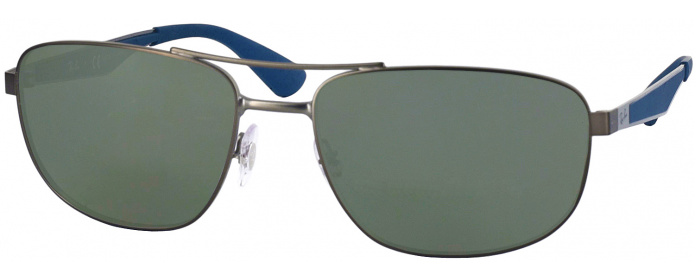 b00c438108 Matte Gunmetal Ray-Ban 3528 Progressive No Line Reading Sunglasses ...