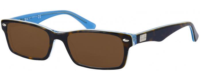 eb867048cb052 Top Havana   Transparent Blue Ray-Ban 5206 Progressive No Line ...