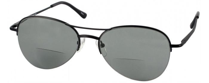 137508bce9 Black Pilot Flex Bifocal Reading Sunglasses - ReadingGlasses.com