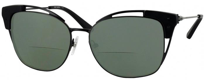 04d8bcb475 Matte Black Tory Burch 6049 Bifocal Reading Sunglasses ...