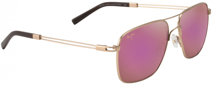 892a0d2133 Satin Gold sunrise Lens Haleiwa 328 Sunglasses by Maui Jim ...
