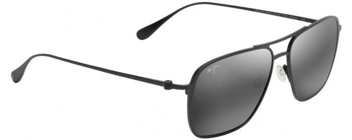 b5b0f9a3cf8 Matte Black Grey Lens Beaches 541 Sunglasses by Maui Jim ...