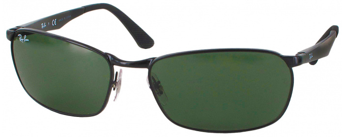 c4f5b25710 Black Ray-Ban 3534 Sunglasses - ReadingGlasses.com